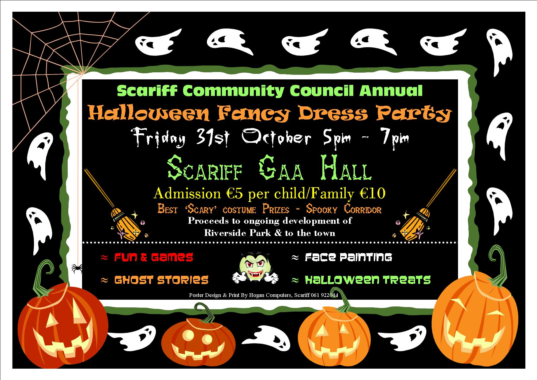Scariff Community Council Halloween Poster 2014