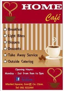 Home  cafe flyer